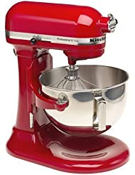 KitchenAid Professional HD Stand Mixer RKG25H0XER, 5-Quart, Empire Red, (Certified