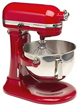 KitchenAid Professional HD Stand Mixer RKG25H0XER, 5-Quart, Empire Red, Certified Refurbished