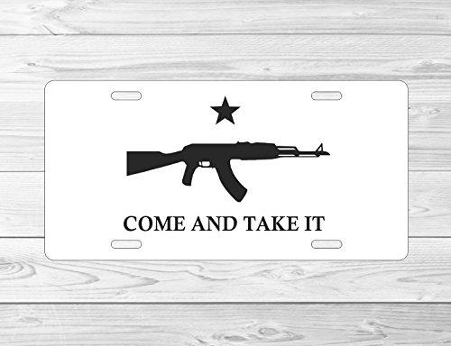 Front 6 Magazine (AK47 ak 47 Come and Take It front 6 x 12 metal license plate frame)