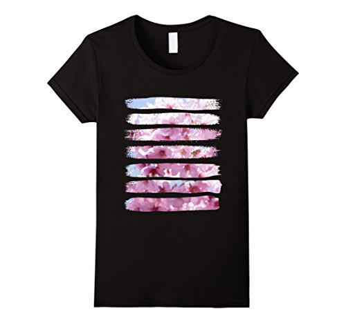 Womens T-Shirt, Beautiful Cherry Blossom Photography, Sakura Japan Small (Japan Cherry Blossom)