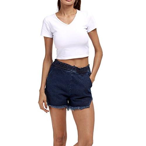Las Mujeres Mas Del Tamaño De Lado Slip Cintura Alta Pantalones Cortos new 2bc54aa61d2