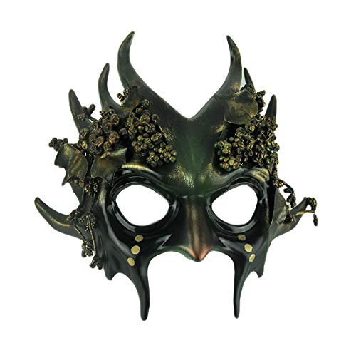 Green Forest Gremlin Adult Wicked Woodland Goblin Halloween Mask