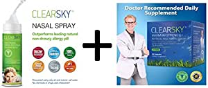 ClearSky Nasal Treatment Set: 1 x ClearSky Nasal Spray + 1 x ClearSky 60 capsules Package