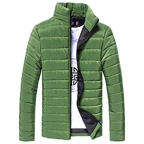 Cotton Zip Ultra Quilted Men's Outerwear Coat Down Outdoor Light Jackets Sleeve Jacket Down Grün Jacket Targogo Long Hooded IFHqww
