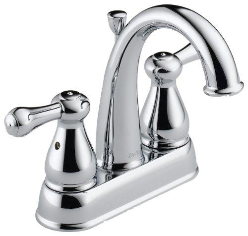 (Delta 2575LF Leland Two Handle Centerset Bathroom Faucet, Chrome)