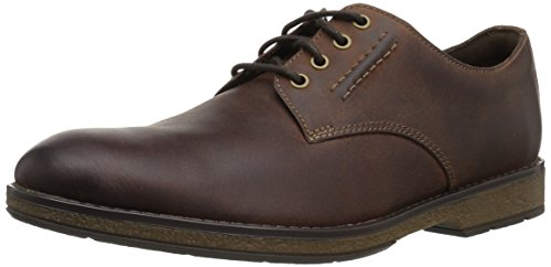 CLARKS Men's Hinman Plain Oxford, Mahogany, 10.5 M US ()