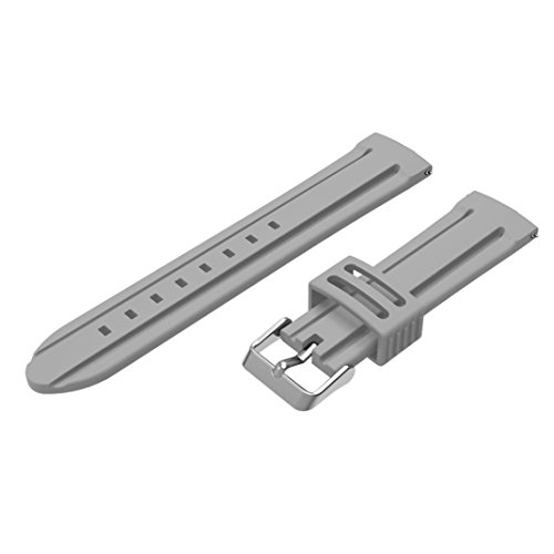 Coohole Replacement Silicone Soft Band Strap Bracelet for Garmin Fenix Chronos GPS Watch (gray)