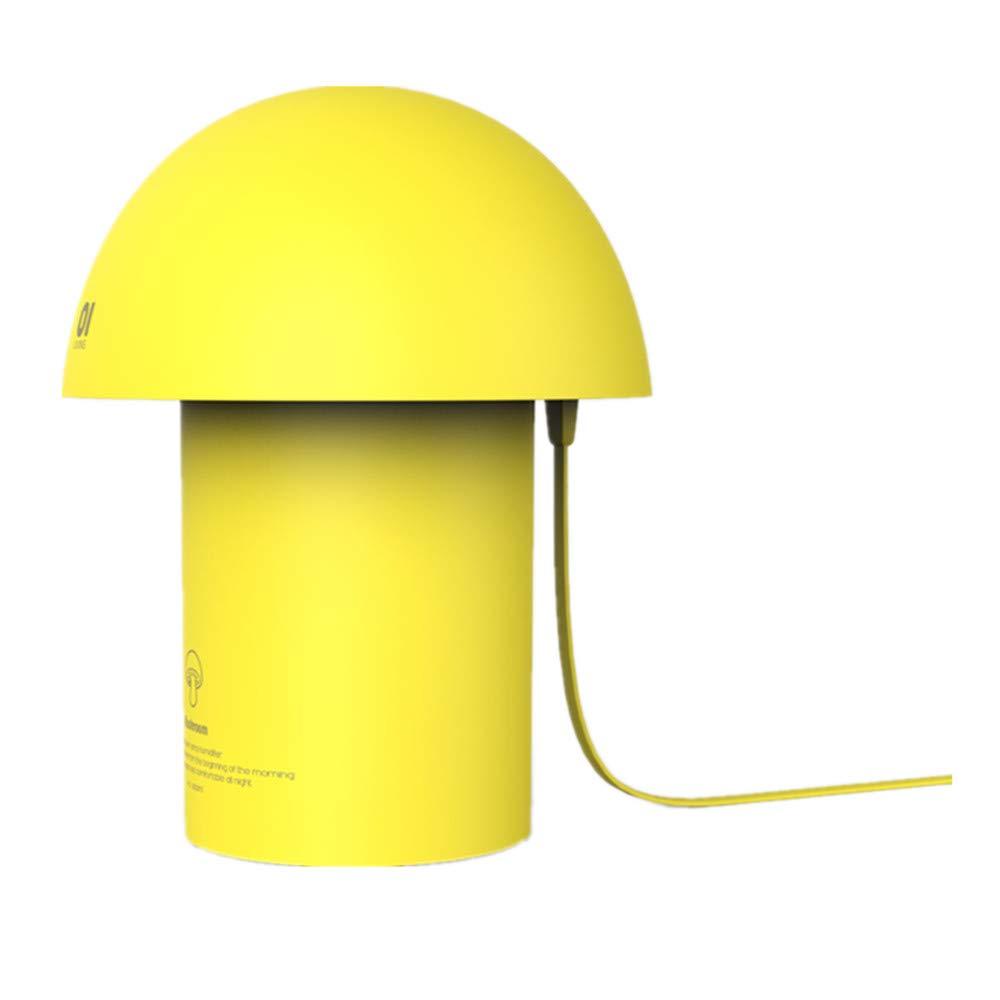 STRLLEY Mushroom LED Mini Humidifier, 300ml USB Cool Mist Portable Mushroom Air humidifier, Ultra-Quiet Operation Bedroom Home Office Desk Yoga Car Travel (Yellow)