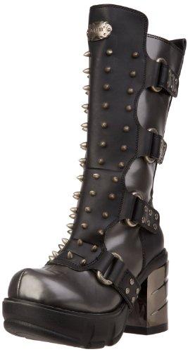 Pleaser Demonia Skumle Sin202 Kvinner Spike Boots D.gray-svart Pu
