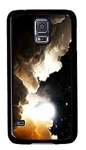 Diy Fashion Case for Samsung Galaxy S5,Black Plastic Case Shell for Samsung Galaxy S5 i9600 with Cool Starry Sky