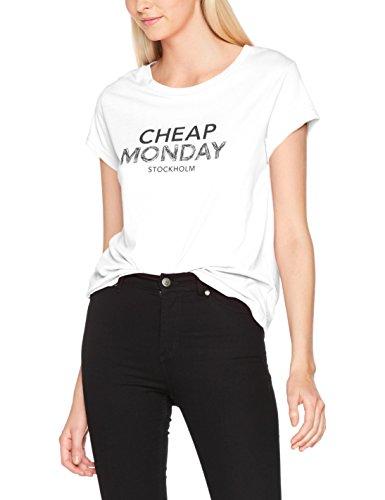 Cheap Monday Have Tee Doodle Logo, Camiseta para Mujer Blanco (White)