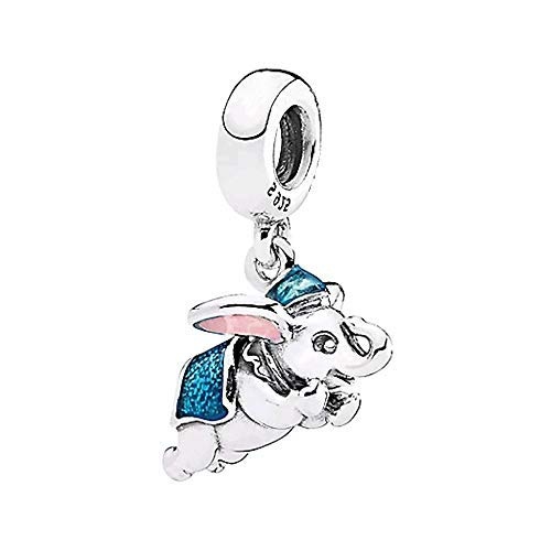 Flying Dumbo Dangle Charm Authentic 925 Sterling Silver Lucy Elephant Pendant Beads fit European Bracelets (Flying Dumbo Dangle Charm)