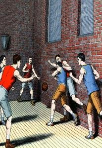 Getting Physical on the Basketball Court 20x30 poster