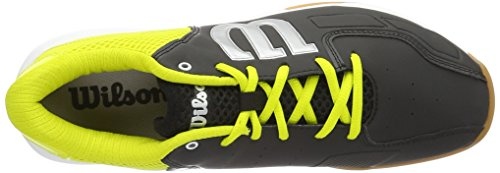 Wilson WRS322340E080, Zapatillas de Tenis Unisex Adulto, Negro (Black / Sulphur Spring / White), 42 EU