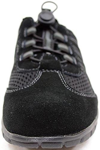 Zapatos Real senderismo Libre Piel Ladies Ante Snugrugs De Negro Aire womens Deportivo Estilo Al qTSBxwpz