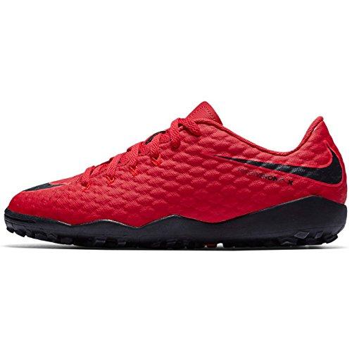 Nike Unisex-Kinder Jr Hypervenomx Phelon III TF Fußballschuhe Rot (University Red/Bright Crimson/Black 616)