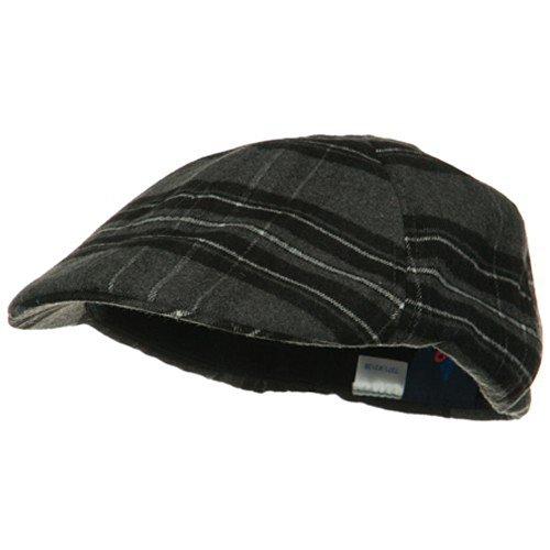 MG Plaid Design Ivy Cap - Black Grey - E4hats Plaid Cap