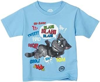 Talking Friends Little Boys' Talking Tom Blah Blah T-Shirt, Light Blue, 7