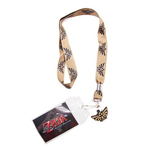 Zelda FEDJE178762NTN Lanyard with Wingcrest Logo Rubber Pendant