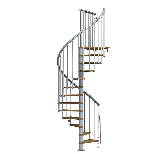 - Arke Nice1 Wood Tread Spiral Staircase Kits - 102-3/4