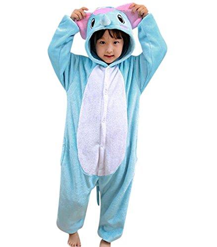 Gerilea Elephant Plus Size Anime Onesie for Halloween Costume Kigurumi Sleepwear -