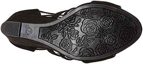 Women's Carlos Wedge by Black Sandal Carlos Santana Madelyn qgtBO