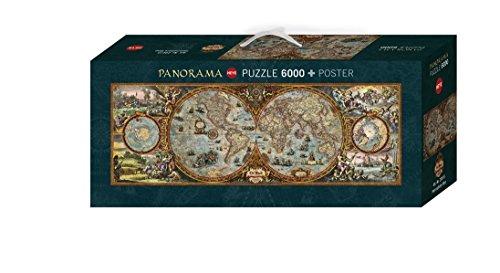 Heye Hemisphere Map 6000 Piece Rajko Zigic Panorama Jigsaw Puzzle