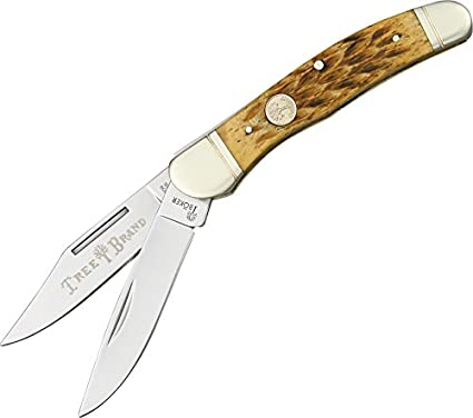 Boker 110723 Ts Copperhead Pocket Knife with Two Blades, Brown