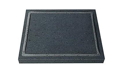 Plancha de piedra volcánica, mod.- Medium Maxi: Amazon.es: Hogar