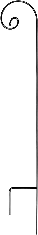 Ashman Shepherd Hook 65 Inch, 1/2 Black Inch Diameter, Solid Metal for Hanging Plant Bird Feeders, Mason Jars, Plant Hangers, Flower Baskets, Christmas Lights, Lanterns, Mason Jars and for Weddings