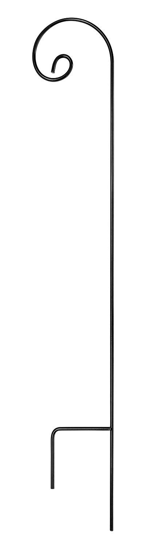 Ashman Shepherd Hook 65 Inch, 1/2 Black Inch Diameter, Solid Metal for Hanging Plant Bird Feeders, Mason Jars, Plant Hangers, Flower Baskets, Christmas Lights, Lanterns, Mason Jars and for Weddings by AshmanOnline