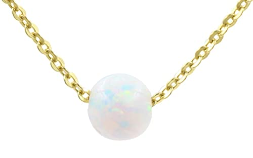 Amazon 925 sterling silver small simulated opal pendant 925 sterling silver small simulated opal pendant necklace gold 16 aloadofball Gallery
