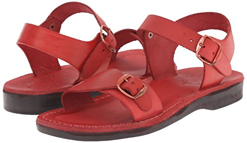 Gummi Jerusalem The Original Original Damen SandalsThe Rot qwzCwFHAx