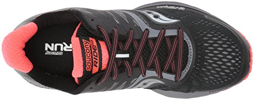 Running Saucony Coral Black 10 Shoes Ride Women's 4aTw1aqt
