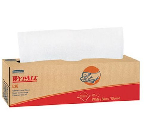 (Wypall L30 Light Duty Wipers - 8 Boxes with 100 Count Per Box)