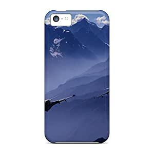 Top Quality Case Cover For Iphone 5c Case With Nice Dassault Rafale's In The French Alps Appearance