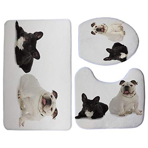 Used, Toilet Seats Cute Black French Bulldog Print 3Pcs/Set for sale  Delivered anywhere in Canada