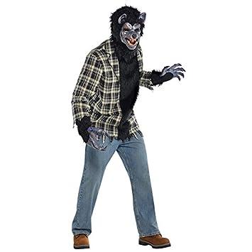 Hombre Rabid Hombre lobo Disfraz Adulto Full Moon Disfraz De ...