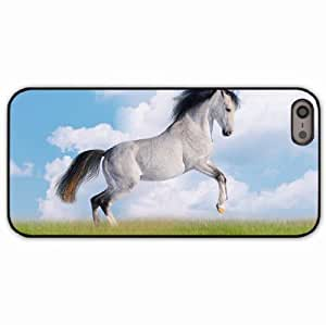 iPhone 5 5S Black Hardshell Case horse mane grass Desin Images Protector Back Cover