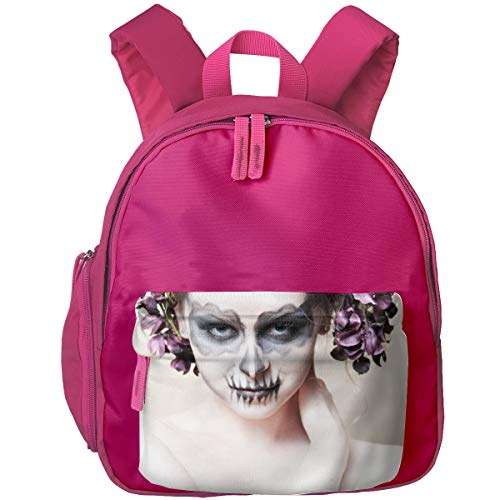 Halloween-Zombie Bride Makeup Girl Children Backpack Pocket Zipper