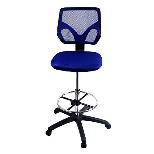 Cool Living Adjustable Office Drafting Chair, Blue