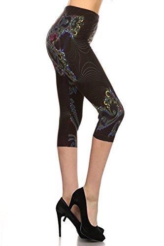R756-CA-PLUS Dainty Legs Capri Print Leggings