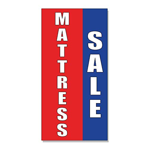 Mattress Sale Promotion Business Decal Sticker Retail Store Sign - 14.5 x 36 inches ()