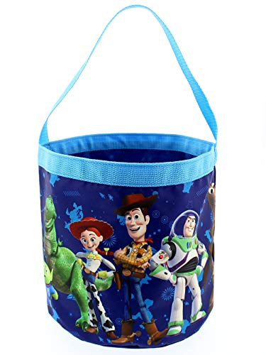 Toy Story 4 Boys Girls Collapsible Nylon Easter Basket Bucket Gift Tote Bag (One Size, Blue) - Toy Story Storage