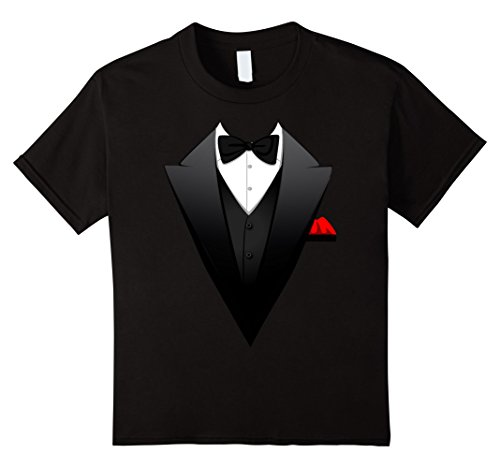 [Kids Funny Printed Suit, Tuxedo, Business Costume For Men T-Shirt 6 Black] (Black People Costumes Ideas)