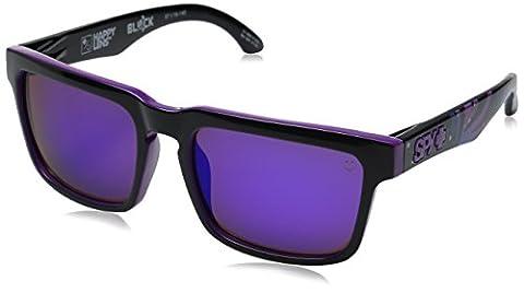 Spy Optic Helm 183015238361 Flat Sunglasses, 57 mm (Livery/Happy Gray/Green/Purple Spectra) - Spy Bronzo Da Sole
