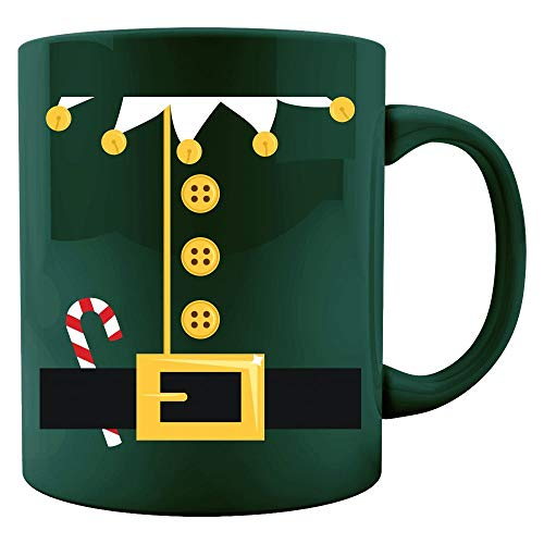 Green Elf Easy Christmas Costume - Colored Mug