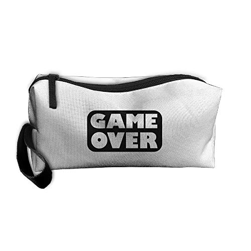 Gameover 1c Printed Cosmetic Bag For Travel Portable Makeup Pouch Storage Bag For Women Girls from Saqueartury