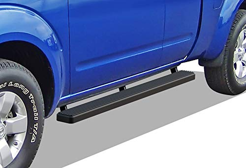 APS iBoard Running Boards (Nerf Bars Side Steps Step Bars) Compatible with 2004-2019 Nissan Titan King Cab Pickup 4-Door (Black Powder Coated 4 inches)