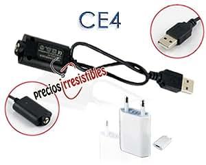 Cable de carga + Cargador red para cigarrillo electrónico EGO ce-4 ce-5 ce-6 - Cargador